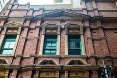 Detalj av tegelstenbyggnad royaltyfria bilder