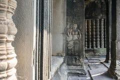 Detalj av tempelväggen Royaltyfria Bilder