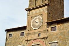 Detalj av tornet av Cortona Arkivfoto
