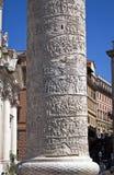 Detalj av Trajan'sens kolonn Arkivfoton