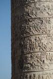 Detalj av Trajans kolonn, Rome, Italien fotografering för bildbyråer