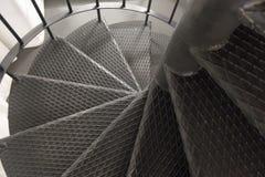 Detalj av trappa för en metallspiral Royaltyfri Fotografi
