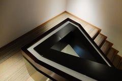 Detalj av trappuppgången i hotellet Arkivbilder