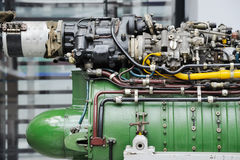 Detalj av Turbojetmotorn Arkivfoton