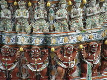Detalj av Wat Pho, Bangkok, Thailand Arkivbilder
