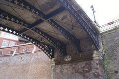 Detalj - bro av lögner, Sibiu, Transylvania, Rumänien arkivbild