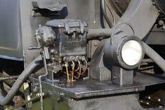 Detalj för ångalokomotiv Royaltyfri Fotografi