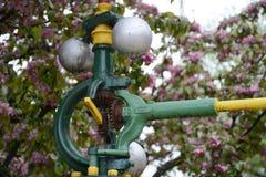 Detalj för ångamotorer royaltyfria foton