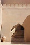 Detalj för arkitektur för Nizwa fortslott Royaltyfria Bilder