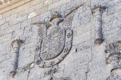 Detalj för Baeza domkyrkafasad, Jaen, Spanien Royaltyfri Bild