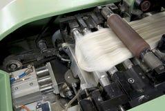 Detalj för bomullssnurrmaskin Arkivfoton