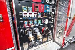 Detalj för brandmotor royaltyfri fotografi