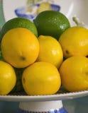 Detalj för citronlimefruktbunke royaltyfri fotografi