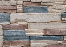 Detalj för cladding för stenvägg Arkivfoto
