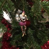 Detalj för clownChristmas garnering Royaltyfri Foto