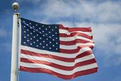Detalj för för USA-amerikanska flagganstjärnor och band Arkivfoto