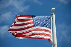 Detalj för för USA-amerikanska flagganstjärnor och band Arkivfoton