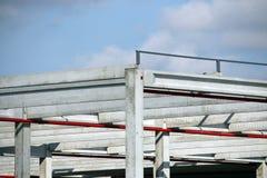 Detalj för fabrikskonstruktionsplats Arkivbilder