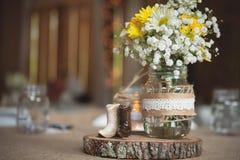 Detalj för inställning för ställe för bröllopmottagande Royaltyfria Foton
