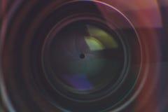 Detalj för kameralins Arkivbilder