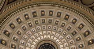 Detalj för kupol för Milwaukee offentligt bibliotek inre Arkivfoton