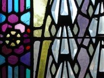 Detalj för målat glassfönster arkivbilder