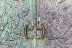Detalj för mausoleumPetrinovic dörr Royaltyfri Fotografi
