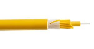 Detalj för optisk kabel för fiber som isoleras på vit royaltyfri bild