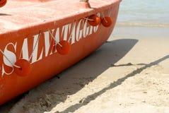 Detalj för räddningsaktionfartyg Royaltyfri Bild