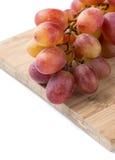 Detalj för röda druvor Arkivbild