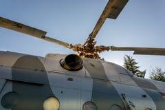 """Detalj för rotor för  för """"Hip-G†för helikopterMil Mi-9 arkivfoto"""