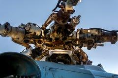 """Detalj för rotor för  för """"Hip-G†för helikopterMil Mi-9 royaltyfria bilder"""