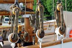 Detalj för seglingskyttel Arkivbild