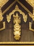 Detalj för Shwedagon pagodstaty Arkivbild