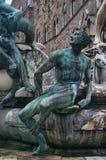 Detalj för springbrunn för Neptun` s i Florence royaltyfri bild