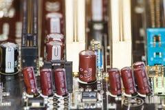 Detalj för strömkretsbräde arkivfoto