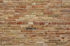 Detalj för tegelstenvägg Arkivfoton