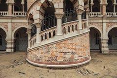 Detalj för tegelstenvägg av Sultan Abdul Samad Building i Kuala Lumpur, Malaysia arkivbilder