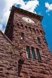 Detalj för torn för klocka för drevstation Arkivbild