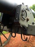 Detalj för vänster sida för inbördeskrigkanonframdel arkivfoto