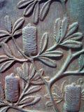 Detalj från bronsskulptur royaltyfri bild