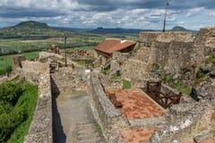 Detalj från den Szigliget slotten i Ungern arkivfoto