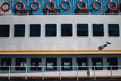 Detalj från ett passagerareskepp Arkivbild