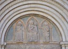 Detalj från ingången av domkyrkan Royaltyfri Fotografi