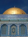 DETALJ FRÅN KUPOLEN AV VAGGA JERUSALEM, ISRAEL Arkivbilder