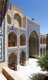 Detalj från Ulugbek Meressa - Registan - Samarkand arkivfoto