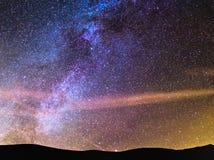 Detalj från Vintergatan Arkivfoton