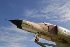 Detalj för jaktflygplan för Israel Air Force McDonnell Douglas F-4E fantom II Arkivbild
