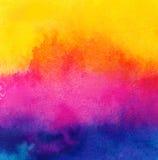 Detalj för textur för bakgrund för Cmky vattenfärgmålarfärg   Royaltyfria Bilder