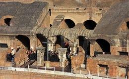 Detalj från insidan av Colloseumen Arkivbild